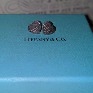 Tiffany mini heart earrings
